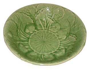 Boon Decor Celadon Porcelain Lotus Bowl - 13 dia x 3 deep