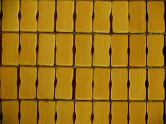 Boon Decor Bamboo Tile Area Mat Close-up of Bamboo Tiles