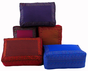 Boon Decor Rectangular Meditation Cushion High Seat SEE COLORS and PATTERNS