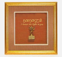 Boon Decor Shadow Box Art Dancing Ganesh Statue - Namaste I honor the Light in You