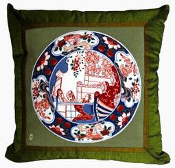 Boon Decor Japanese Decorative Throw Pillow Imari Plate Furoshiki SEE PATTERN COLOR CHOICES