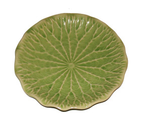 Boon Decor Celadon Dinnerware Lotus Blossom Collection 10.75 Water Lily Leaf Dinner Plate