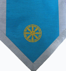 Boon Decor Altar Cloth Or Wall Hanging - Embroidered - Wheel Of Dharma - Turquoise
