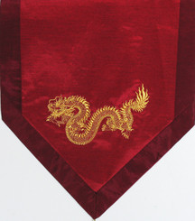 Boon Decor Altar Cloth Or Wall Hanging - Embroidered - Golden Dragon