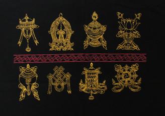 Boon Decor Tee shirts with Eight Auspicious Symbols Eight Auspicious Symbols Tee Shirt - Black