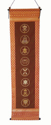 Boon Decor Wall Hanging Eight Auspicious Symbols - Embroidered SEE CHOICES