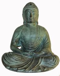 Boon Decor Buddha Statue - Japanese Zen Style Meditating Buddha - Solid Bronze 13 SEE FINISHES
