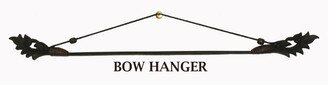"""Fabric/Runner Hanger - Carved Teak Wood & Bamboo Bow 32"""""""