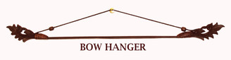 Boon Decor Fabric/Runner Hanger - Carved Teak Wood and Bamboo Bow Brown SEE SIZES