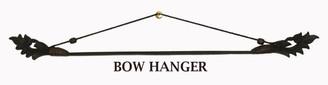 """Fabric/Runner Hanger - Carved Teak Wood & Bamboo Bow 28"""""""