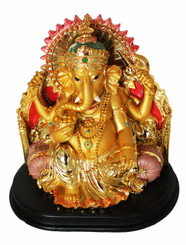Boon Decor Ganesh with Bolsters 6.75 Painted Resin