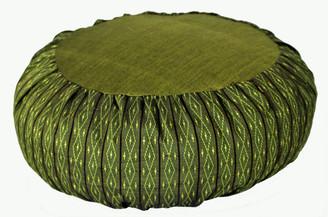 Boon Decor Meditation Cushion Zafu Pillow Global Weave Olive Green 16 dia 6 loft