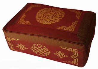 Boon Decor Rectangular Meditation Cushion Zafu Pillow Longevity Dharma Key SEE COLORS