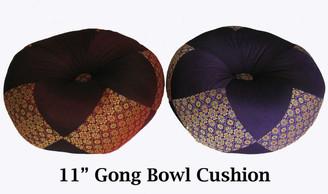 Boon Decor Gong Cushion - Silk Brocade - 11 Diameter