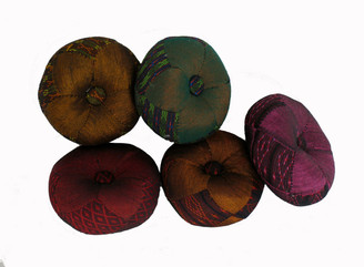 Boon Decor Gong Cushion - Global Weave Fabric 3.25 Diameter