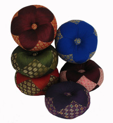 Boon Decor Gong Cushion - Silk Brocade - 6.5 Diameter