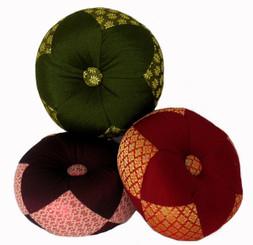 Boon Decor Gong Cushion - Silk Brocade 7 Diameter