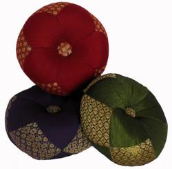 Boon Decor Gong Cushion - Silk Brocade 8 Diameter