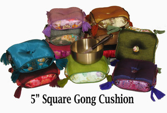 Boon Decor Gong Cushion for Singing Bowl 5 Square Silk Brocade SEE COLORS