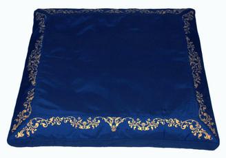 Boon Decor Meditation Mat Zabuton Floor Cushion Silkscreen Blue 34x30x6