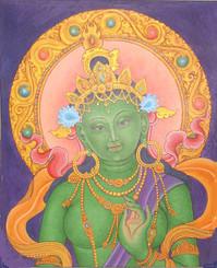 Boon Decor Green Tara Painting