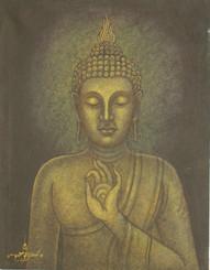 Boon Decor Buddha Original Painting - Blessing Mudra Buddha 14 X 18