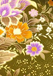 Handbags- Vintage Japanese Silk Kimono Print Fabrics: Vintage Silk Japanese Kimono Handbag FH014B