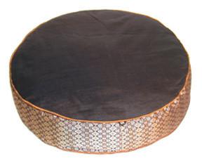 Boon Decor Floor Cushion - Deluxe Round - Kapok Fill Jewel Brocade Round Floor Cushion Black