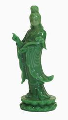 Boon Decor Quan Yin Figurine - 6 Faux Jade Resin