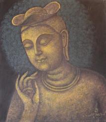 Boon Decor Buddha Original Painting - Korean Maitreya14 x 16