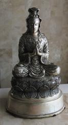 Boon Decor Quan Yin Kuan Yin Statues - Antique Silver Finish Solid Bronze 11