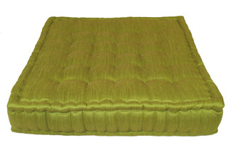 Boon Decor Tufted Floor Cushion Lime Green Floor Pillow