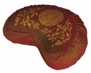 Boon Decor Meditation Cushion Crescent Buckwheat Zafu Pillow Longevity Saffron