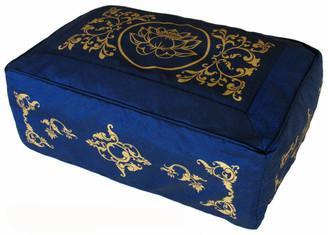 Boon Decor Rectangular Meditation Cushion Zafu Lotus Enlightenment Celestial Vine SEE COLORS