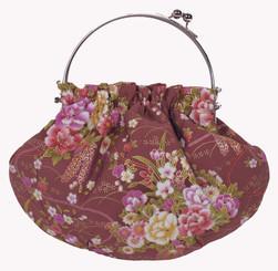 Boon Decor Handbag - Japanese Silk Kimono - Small Mauve Handbag