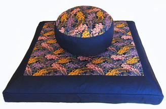 Boon Decor Meditation Cushion Set Zafu and Zabuton - Wisteria Garden One of a Kind
