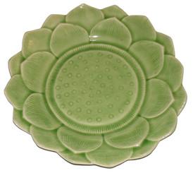 Boon Decor Celadon Tabletop Dinnerware - Lotus Blossom Collection 10 Lotus Blossom Dinner Plate