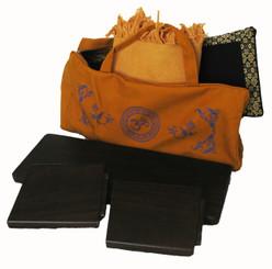 Boon Decor Meditation Accessory Tote Bag - Cotton Canvas Silkscreen Symbol
