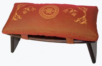 Boon Decor Meditation Bench and Cushion Set Folding Seiza Eternal Knot Saffron
