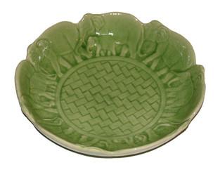 Boon Decor Celadon Porcelain Elephant Bowl 12 dia