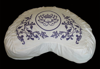 Boon Decor Crescent Meditation Cushion Cotton Zafu Pillow Lotus Purity Collection SEE COLORS