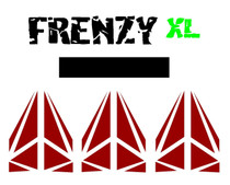 "Cut Vinyl 4"" Frenzy XL Decal"