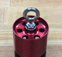Minimum Diameter Motor Retainer, 38mm, with Bypass Holes and 3/16 Welded SS Eye-Bolt