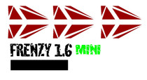 "Cut Vinyl 1.6"" Frenzy Mini Decal"