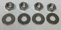 4 Nuts & 4 Washers, Stainless Steel, 5/16""