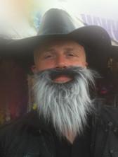 Large 2 tone long grey beard