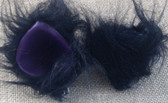 Mini long fur black ears with stiff purple inner