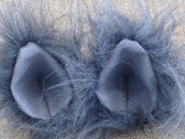 Mini long fur grey ears with stiff grey inner