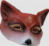 Red Fox Latex Half Mask