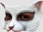 Latex White Kitten Mask